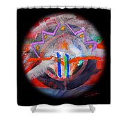Rocky Mountain Pass Shower Curtain