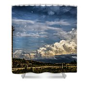 Silo Before The Storm. Shower Curtain