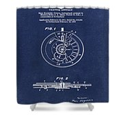 Rolex Watch Patent 1999 In Blue Shower Curtain