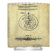 Rolex Watch Patent 1999 In Sepia Shower Curtain