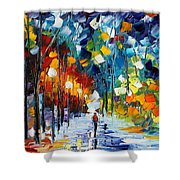 Romantic Winter Shower Curtain