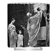 Rome: Christian Widow Shower Curtain by Granger