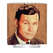 Ron Hayes, Vintage Actor Shower Curtain