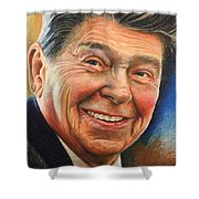 Ronald Reagan Portrait Shower Curtain