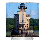 Rondout Lighthouse On The Hudson River New York Shower Curtain