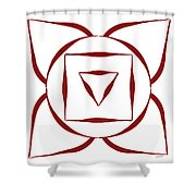 1 Root Chakra Shower Curtain