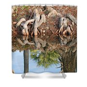 Rooted Reflections Shower Curtain