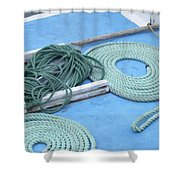 Ropes And Bolt Hook Shower Curtain