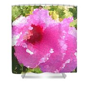 Rose Of Sharon In Abstract Shower Curtain