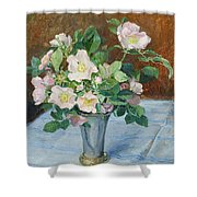 Rosehip Flowers Shower Curtain