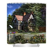Roses House Shower Curtain