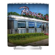 Rosie's Diner Shower Curtain