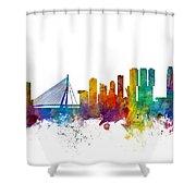 Rotterdam The Netherlands Skyline Shower Curtain