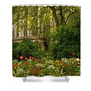 Rouen Abbey Garden Shower Curtain