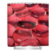 Round Glass Shapes Shower Curtain