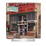 Route 66 - Chenoa Pharmacy Shower Curtain