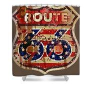 Route 66 T-shirt Shower Curtain
