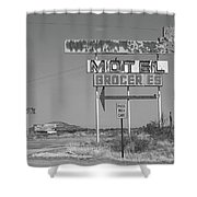 Route 66 - New Mexico Whiting Brothers Gas Shower Curtain