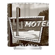 Route 66 - Western Motel Shower Curtain
