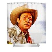 Roy Rogers, Vintage Western Legend Shower Curtain
