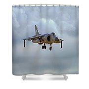 Royal Navy Sea Harrier. Shower Curtain