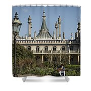 Royal Pavilion And Gardens In Brighton Shower Curtain