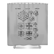 rubik's cube Patent 1983 Shower Curtain