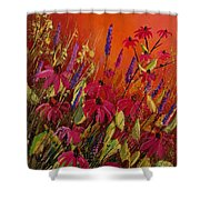 Rudbeckias And Lyatris Shower Curtain