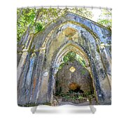 Ruins Of Chapel Sintra Shower Curtain