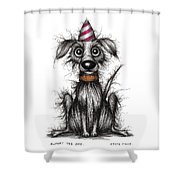Rupert The Dog Shower Curtain