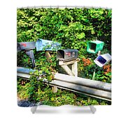 Rural Mailboxes  Shower Curtain