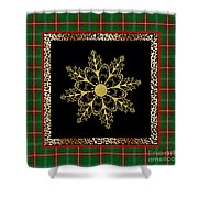 Rustic Snowflake-jp3695 Shower Curtain