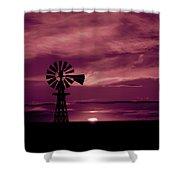 Rustic Sunset - Colorado Shower Curtain