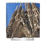 Sagrada Familia In Barcelona Shower Curtain