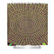Saguaro Forest Abstract Shower Curtain