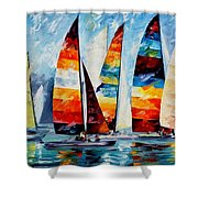Sail Regatta Shower Curtain