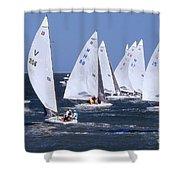 Sailboat Championship Racing Shower Curtain