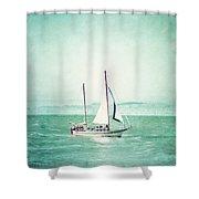 Sailboat In San Francisco Bay Shower Curtain