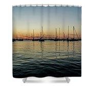 Sailboats At Sunrise  Shower Curtain