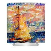 Sailing In The Sea Shower Curtain