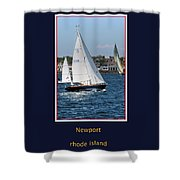 Sailing Newport Shower Curtain