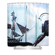 Sailing Within The Bottle Shower Curtain