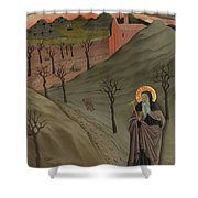 Saint Anthony The Abbot In The Wilderness Shower Curtain