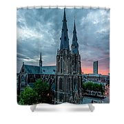 Saint Catherina Church In Eindhoven Shower Curtain by Semmick Photo