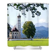 Saint Coloman Church 2 Shower Curtain