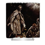 Saint Francis In Ecstasy Shower Curtain