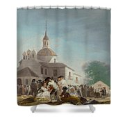 Saint Isidore's Day At The Saint's Hermitage Shower Curtain