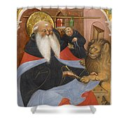 Saint Jerome Extracting A Thorn From A Lion's Paw Shower Curtain