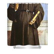 Saint Nicholas Of Tolentino Shower Curtain