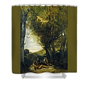 Saint Sebastian Succored By The Holy Women Shower Curtain